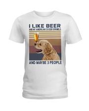 Beer and American Cocker Spaniels Ladies T-Shirt thumbnail