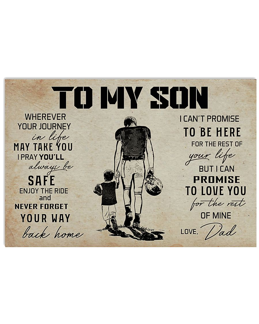 18 USA FOOTBALL TO MY SON 17x11 Poster