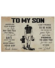 18 USA FOOTBALL TO MY SON 17x11 Poster front