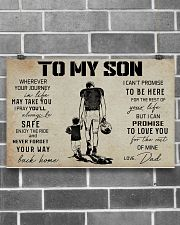 18 USA FOOTBALL TO MY SON 17x11 Poster poster-landscape-17x11-lifestyle-18