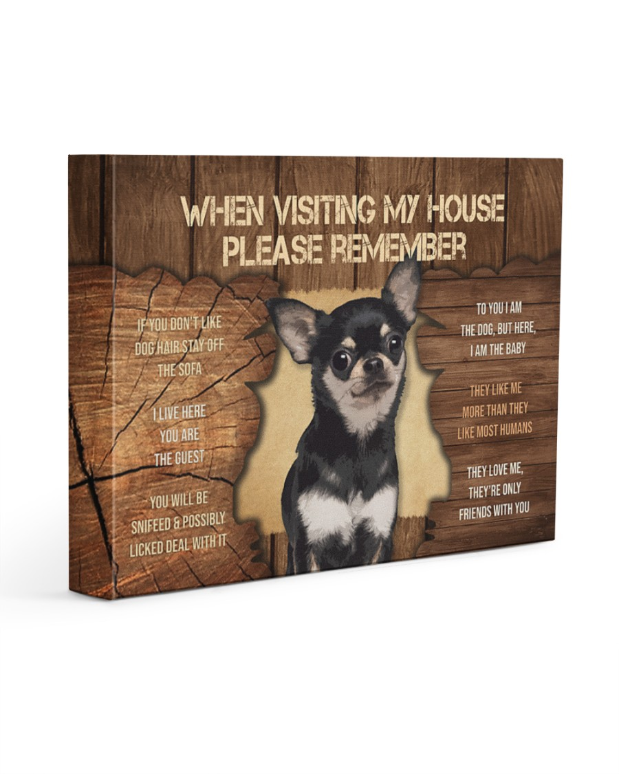 Visit home Chihuhua 14x11 Gallery Wrapped Canvas Prints