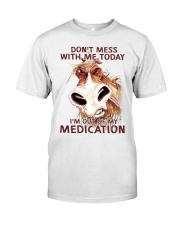 HORSE NO MEDICATION Classic T-Shirt tile