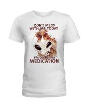 HORSE NO MEDICATION Ladies T-Shirt thumbnail