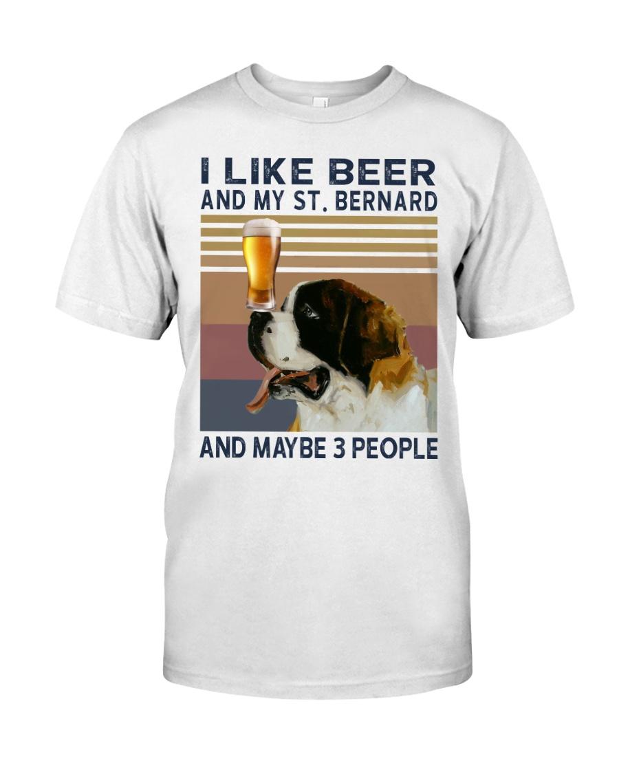 Beer and Saint Bernard Classic T-Shirt