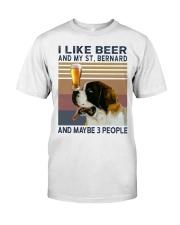 Beer and Saint Bernard Classic T-Shirt front