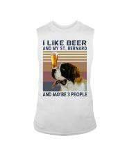 Beer and Saint Bernard Sleeveless Tee thumbnail