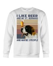 Beer and Saint Bernard Crewneck Sweatshirt thumbnail