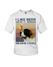 Beer and Saint Bernard Youth T-Shirt thumbnail