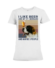 Beer and Saint Bernard Premium Fit Ladies Tee thumbnail