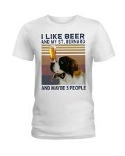 Beer and Saint Bernard Ladies T-Shirt thumbnail