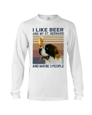 Beer and Saint Bernard Long Sleeve Tee thumbnail