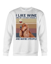 Wine and Cocker spaniels Crewneck Sweatshirt tile