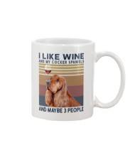 Wine and Cocker spaniels Mug tile