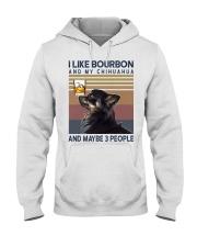 Bourbon and Chihuahua kp Hooded Sweatshirt thumbnail