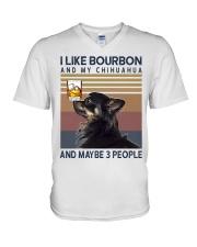 Bourbon and Chihuahua kp V-Neck T-Shirt thumbnail