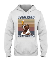 Beer and English Springer Spaniel Hooded Sweatshirt thumbnail