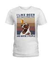 Beer and English Springer Spaniel Ladies T-Shirt tile