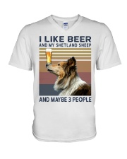 Beer and Shetland Sheep hp V-Neck T-Shirt thumbnail