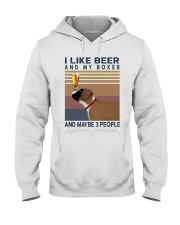 Beer and Boxer Hooded Sweatshirt thumbnail