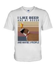 Beer and Boxer V-Neck T-Shirt thumbnail