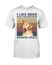 I like beer and Labrador Classic T-Shirt front