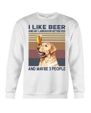 I like beer and Labrador Crewneck Sweatshirt thumbnail