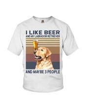 I like beer and Labrador Youth T-Shirt thumbnail
