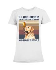 I like beer and Labrador Premium Fit Ladies Tee thumbnail