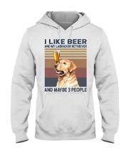 I like beer and Labrador Hooded Sweatshirt thumbnail