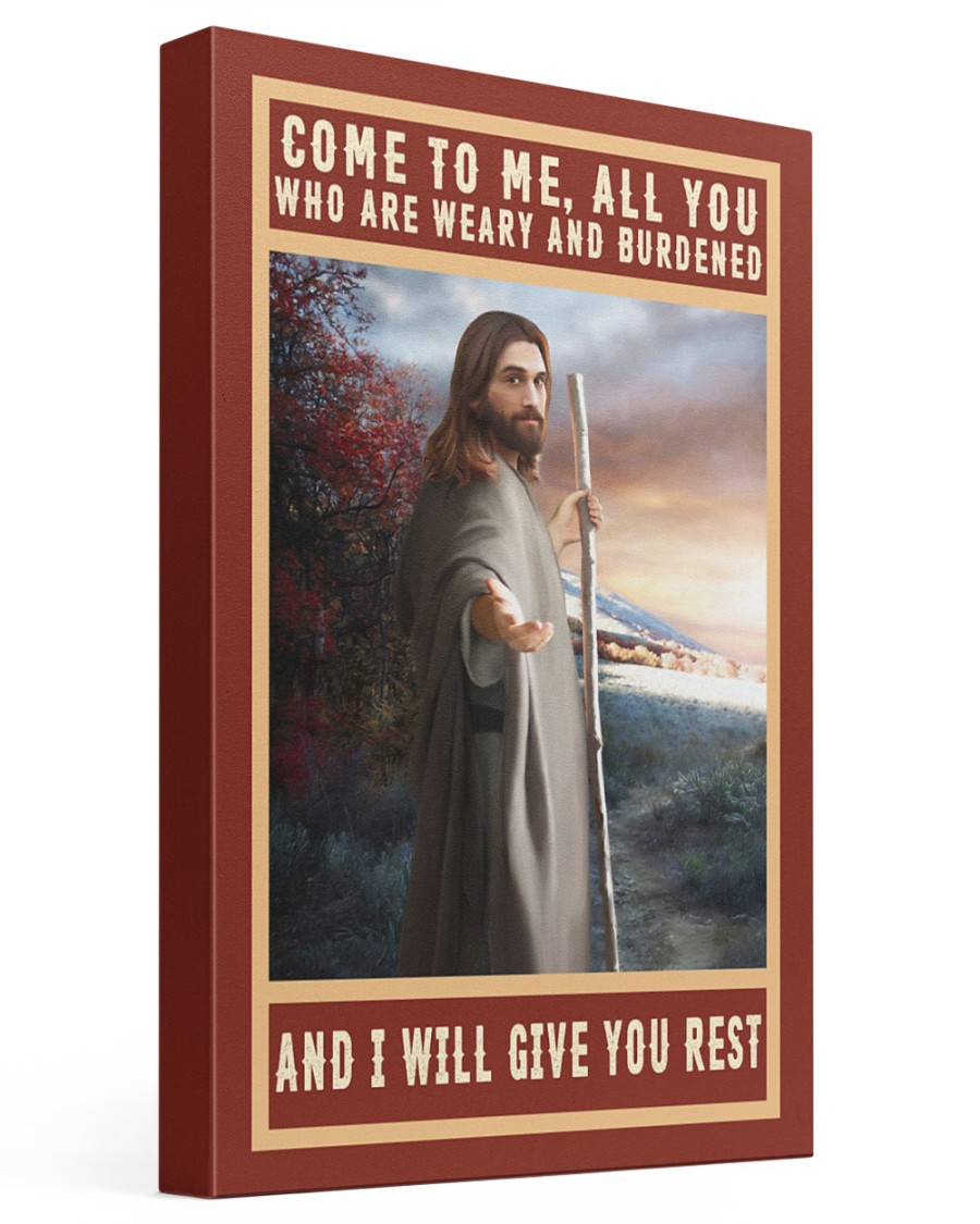 Jesus-rest 16x24 Gallery Wrapped Canvas Prints