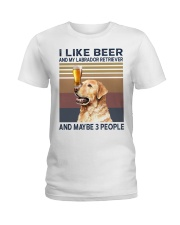 beer and Labrador Ladies T-Shirt thumbnail