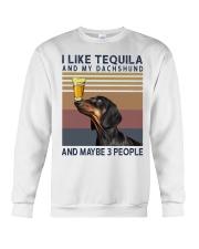 Tequila and Dachshund Crewneck Sweatshirt thumbnail