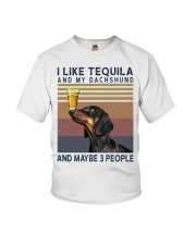 Tequila and Dachshund Youth T-Shirt thumbnail