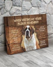 Visit home Saint Bernard 14x11 Gallery Wrapped Canvas Prints aos-canvas-pgw-14x11-lifestyle-front-13
