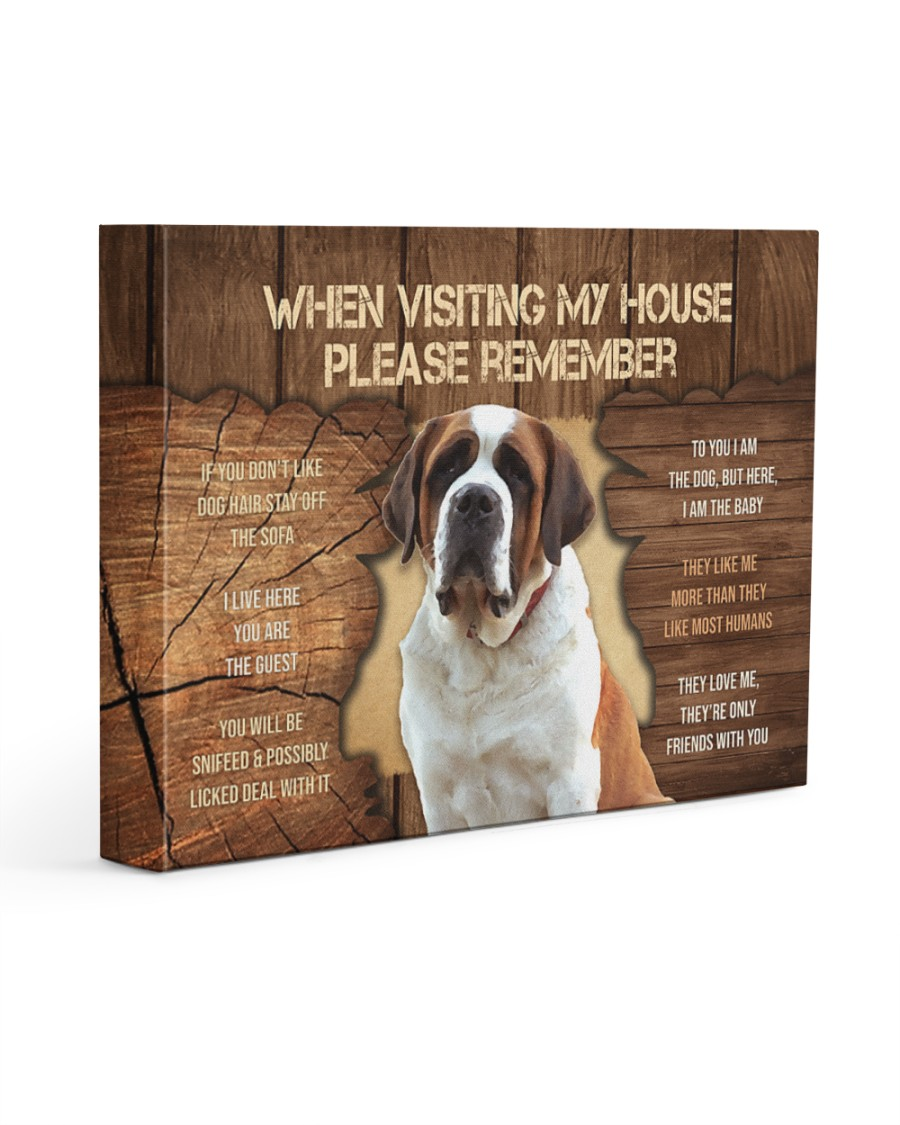 Visit home Saint Bernard 14x11 Gallery Wrapped Canvas Prints