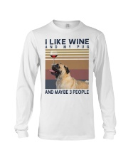 Wine and Pug Long Sleeve Tee thumbnail