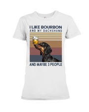 Bourbon and Dachshund Premium Fit Ladies Tee tile
