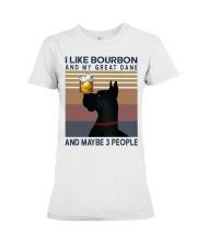 Bourbon and Great Dane Premium Fit Ladies Tee thumbnail