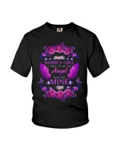 Daddy's Girl Angel Purple Youth T-Shirt thumbnail