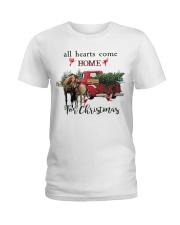Horse Christmas Ladies T-Shirt thumbnail
