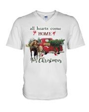 Horse Christmas V-Neck T-Shirt thumbnail