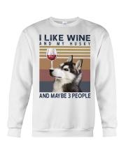 Wine and Husky Crewneck Sweatshirt thumbnail