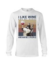 Wine and Husky Long Sleeve Tee thumbnail