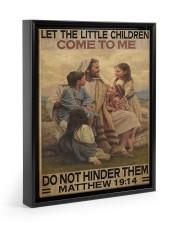 Jesus-Matthew 11x14 Black Floating Framed Canvas Prints thumbnail