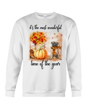 Pug dog love fall Crewneck Sweatshirt thumbnail