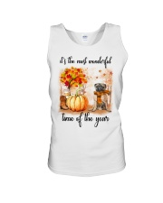 Pug dog love fall Unisex Tank thumbnail