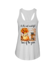 Pug dog love fall Ladies Flowy Tank thumbnail