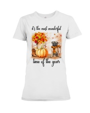 Pug dog love fall Premium Fit Ladies Tee thumbnail