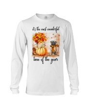 Pug dog love fall Long Sleeve Tee thumbnail