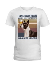 Bourbon and Boston Terrier kp Ladies T-Shirt thumbnail